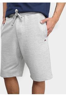 Bermuda Tommy Jeans Classics Sweatshort Masculino - Masculino-Cinza