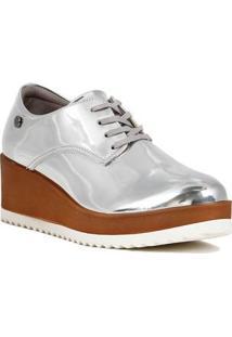 Sapato Oxford Feminino Metalizado
