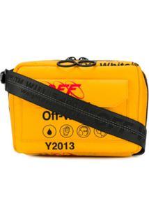 Off-White Bolsa Tiracolo Industrial - Amarelo