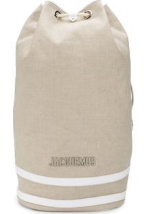 Jacquemus Large Drawstring Backpack - Neutro