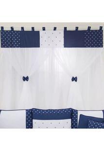 Cortina Para Quarto De Beb㪠Coroa Realeza Marinho - Azul Marinho - Menino - Dafiti