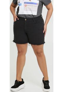 Short Feminino Sarja Barra Desfiada Plus Size Marisa