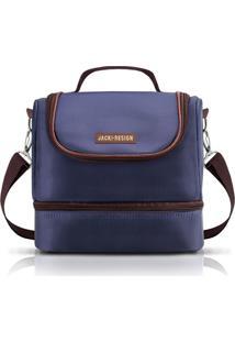 (For Men) Bolsa Térmica Com 2 Compartimentos Jacki Design Azul Marrom - Kanui