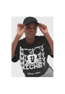 Camiseta Colcci Disney Mickey Preta