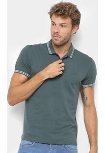Camisa Polo Sommer Clássica Masculina - Masculino-Verde