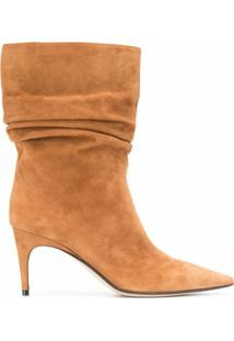 Sergio Rossi Ankle Boot Franzida Sr Cindy - Marrom