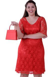 Vestido Vickttoria Vick De Renda L'Amour Plus Size