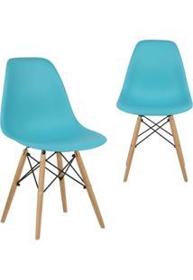 Kit 2 Cadeiras Mpdecor Eiffel Charles Eames Azul Tiffany