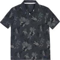 Camisa Polo Masculina Slim Em Malha De Algodão Estampada Hering 8fcf78c139531