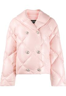 Balmain Double-Breasted Puffer Jacket - Rosa
