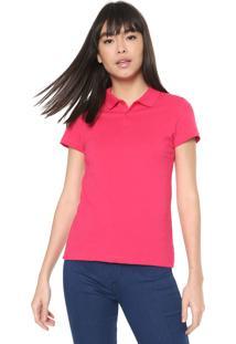 Camisa Polo Malwee Reta Lisa Pink