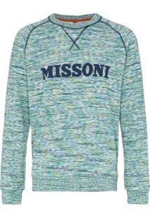 Missoni Logo Embellished Cotton Jumper - Estampado