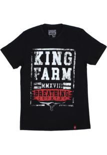 Camiseta King Farm Masculina - Masculino-Preto