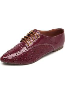 Oxford Dafiti Shoes Lasercut Vinho