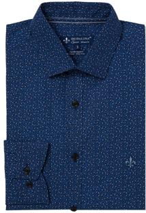 Camisa Dudalina Manga Longa Tricoline Estampa Gravataria Masculina (Estampado 2, 2)