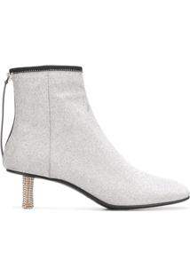 Calvin Klein 205W39Nyc Ankle Boot Com Brilho - Cinza