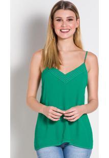 Blusa Verde Com Aviamento Colcci