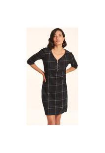 Vestido Isadora M 3/4-Xadrez-05