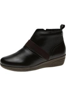 Bota Anabela Doctor Shoes 164 Marrom