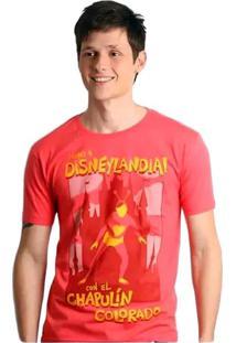 Camiseta Chapolim Disneylândia Geek10 - Rosa
