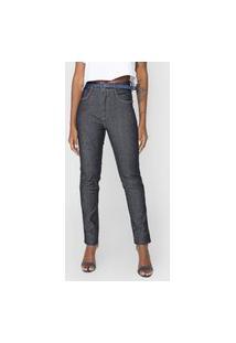Calça Jeans Morena Rosa Skinny Isabelli Azul-Marinho