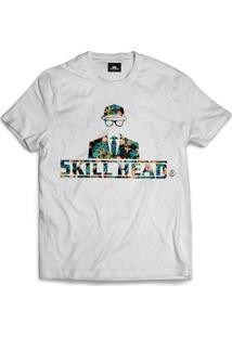 Camiseta Skill Head Logo Floral - Masculino
