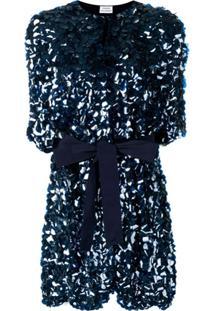 P.A.R.O.S.H. Casaco Com Cinto E Paetês - Azul