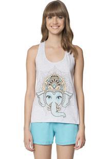 50d63399b -20% Short Doll Feminino Elefante Zen Ganesha Lua Encantada