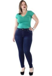 Calça Jeans Sawary Plus Size 264216 Feminina - Feminino-Azul