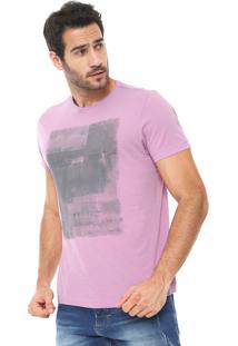 Camiseta Aramis Estampada Rosa