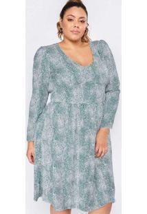Vestido Almaria Plus Size Pianeta Longuete Estampa