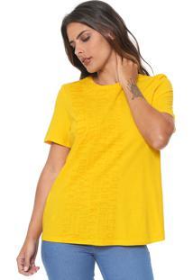 Camiseta Lança Perfume Lettering Amarela