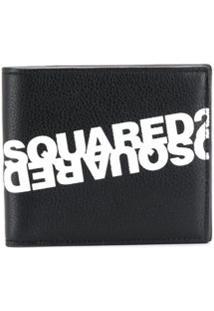 Dsquared2 Carteira Dobrável Com Estampa De Logo - Preto