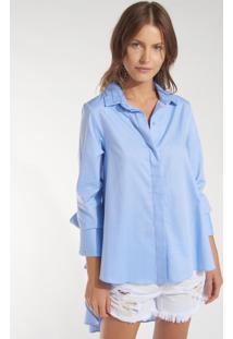 Camisa Rosa Chá Misty 1 Azul Feminina (Azul Claro, Gg)