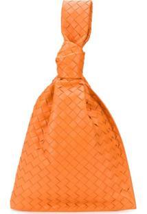 Bottega Veneta Intrecciato Weave Bag - Laranja