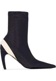 Proenza Schouler Ankle Boot Com Stretch - Preto