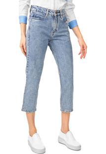 Calça Jeans Carmim Reta Cropped Upper Town Tomboy Azul