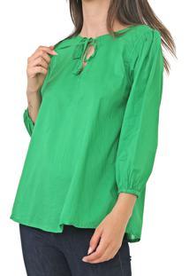 Blusa Cantão Amarração Verde - Kanui