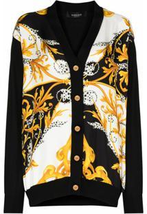 Versace Cardigan Com Abotoamento E Estama Barroca - A7027 Black
