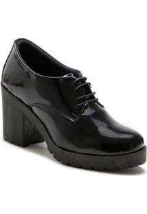 Bota Navit Shoes Tratorada Cano Baixo Feminino - Feminino-Preto