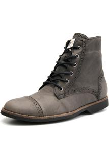 Bota Shoes Grand London Chumbo Cinza