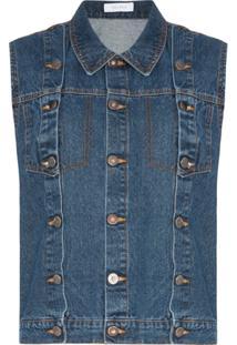Delada Colete Jeans - Azul