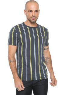Camiseta Iódice Listras Azul-Marinho