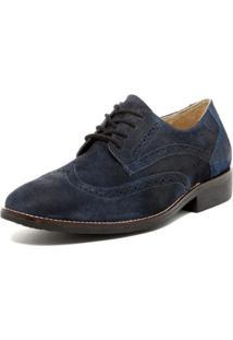 Sapato Sandro Moscoloni Cory Wingtip Derby Azul