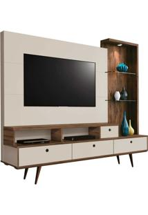 Estante Para Home Theater Tiffany Rovere Italiano E Off White