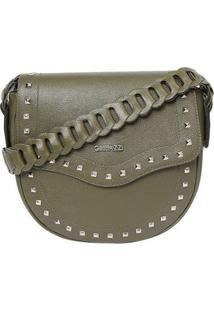 Bolsa De Couro Griffazzi - Feminino-Verde Militar