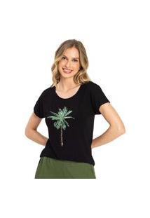Blusa Feminina Tropical Rovitex Preto