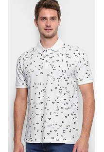 Camisa Polo Reserva Piquet Full Print Pátria Masculina - Masculino