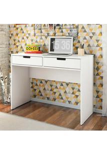 Mesa Para Computador Com 2 Gavetas New – Olivar - Branco / Branco