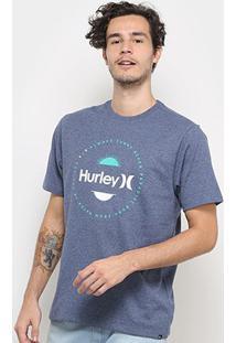 Camiseta Hurley Silk Always Masculina - Masculino-Azul+Cinza